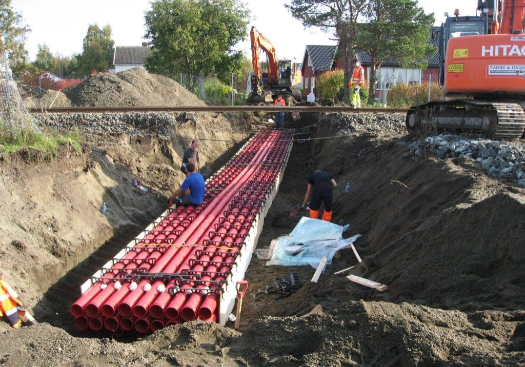 NTEs kabelkryssing i OPI-kanal for 132 kV, 22 kV og kommunikasjon på Stjørdal